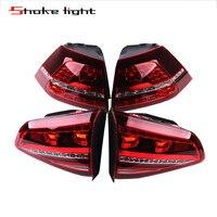 4Pcs For VW Golf GTI GTD MK7 7 VII 2013 2015 2016 New Black LED Rear Tail Light Lamp 5G0945207 5G0945208 5G0945307G 5G0945308G