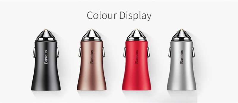 Car Charger Dual USB output 2.4A fast charging