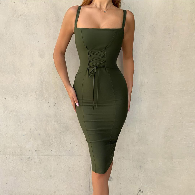 Ocstrade New Arrival 2019 Women Sexy Green Bandage Dress