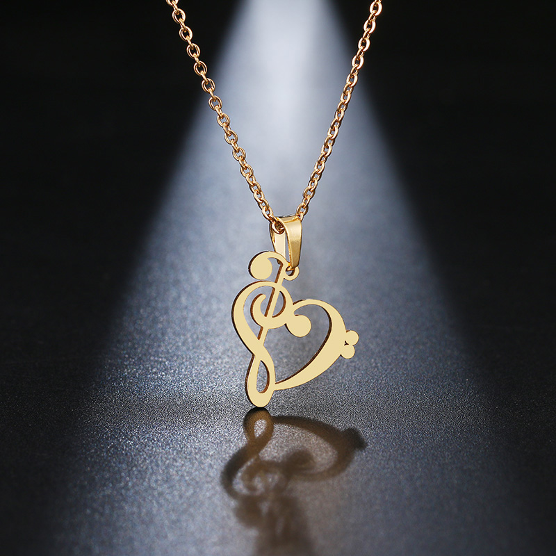 HTB1UozvaE rK1Rjy0Fcq6zEvVXaZ - DOTIFI Stainless Steel Necklace Music Symbol Heart Of Treble And Bass Clefs Infinity Love Charm Pendant Necklaces Unisex Jewelry