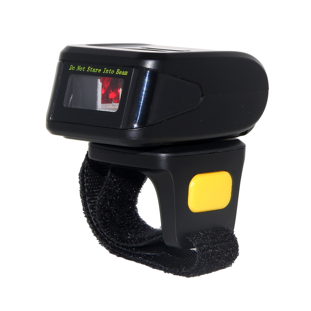 Prix pour Mini Portable Bluetooth 1D Anneau Code Barcode Scanner Doigt pour Iphone IOS Android Windows-RD-R1