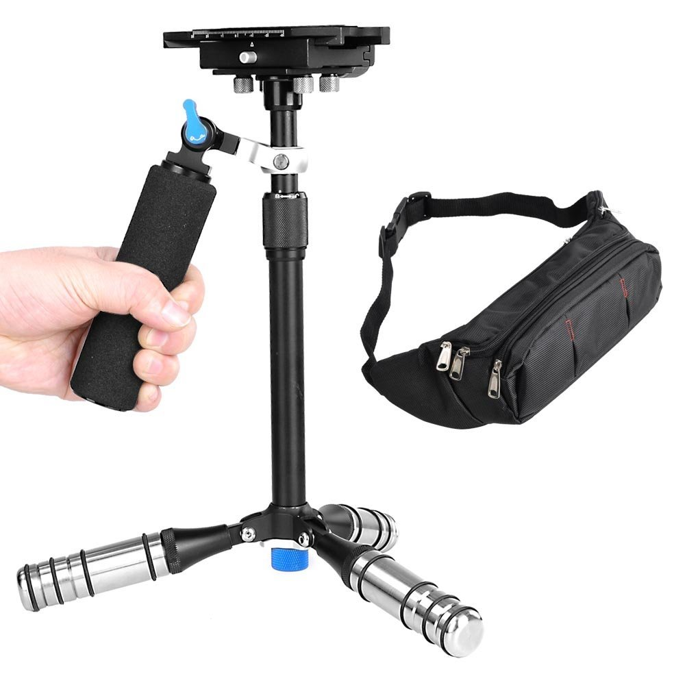 Three-axis Carbon Fiber Super Light Handheld Video Stabilizer Camera Steadicam Stabilizer for Canon Nikon Sony DSLR Cameras/DV