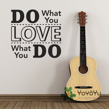 Inspirational Quote Wall Sticker - Do What You Love, Love Decal Home Decor Living Room Stickers muraux WA-5