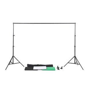 Image 5 - ZUOCHEN תמונה סטודיו שחור לבן ירוק רקע Chroma מפתח מסך רקע Stand קיט