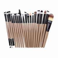 20 stücke EIN satz von Bürsten für Make-up Pro Blending Lidschatten Powder Foundation Augen Augenbraue Lip Eyeliner Make-Up pinsel Kosmetik Werkzeug