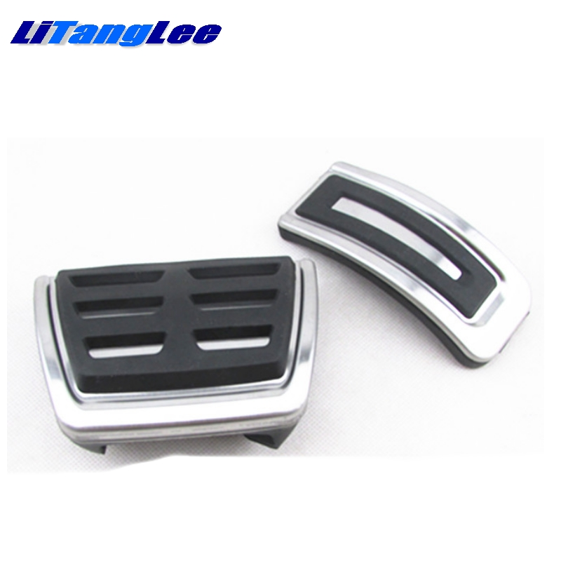 LitangLee Car Accelerator Pedal Pad Cover Sport Racing Design For SEAT Arosa 1997~2004 AT Foot Throttle Pedal Cover (1)