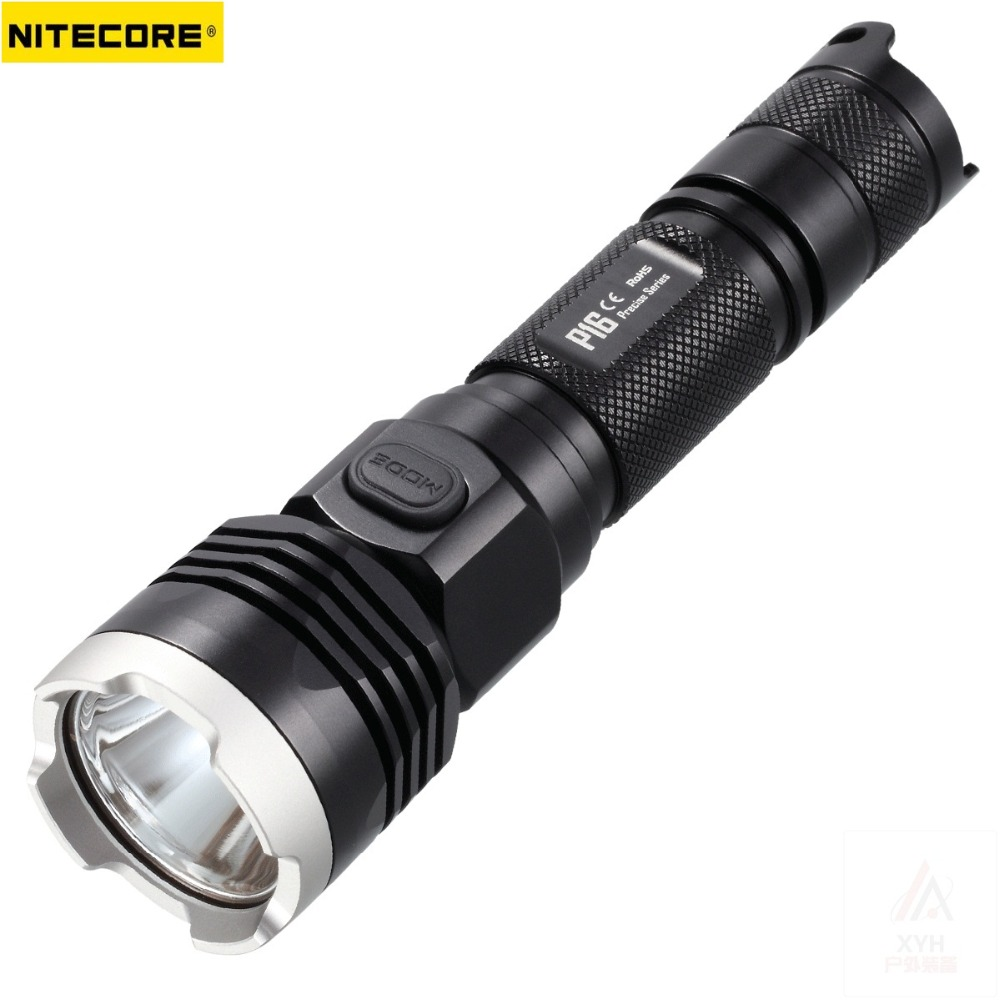 NITECORE P16 Cree XM-L2 T6 LED Flashlight 960 LM Ultra High Intensity Tactical Flashlight for Self Defence by 1 x 18650 battery nitecore srt6 930 lumens cree xm l xm l2 t6 tactical led flashlight black free shipping