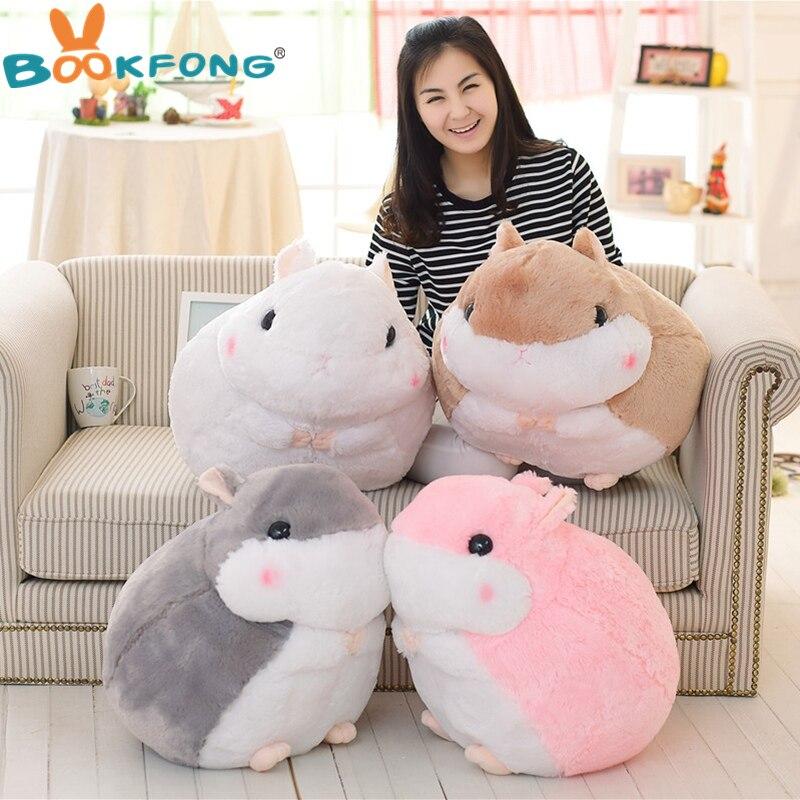 1Pc 45cm Japan fat hamster plush toys lovely doll lying hamsters guinea pigs plush dolls birthday gift for children 2017 1pc japan