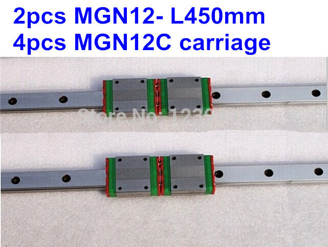 2pcs MGN12 L450mm linear rail + 4pcs MGN12C carriage 2017 new flower grass transparent acrylic silicone rubber clear stamps sheet for diy scrapbooking photo album cards making decor