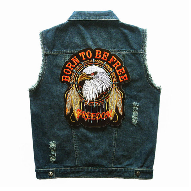 Herobiker Motorcycle Jacket Denim Vest Cowboy Sleeveless Cowboy Jacket Vintage Retro Punk Street Hip Hop Biker Men Jeans Vest кулоны подвески медальоны swarovski 5290187