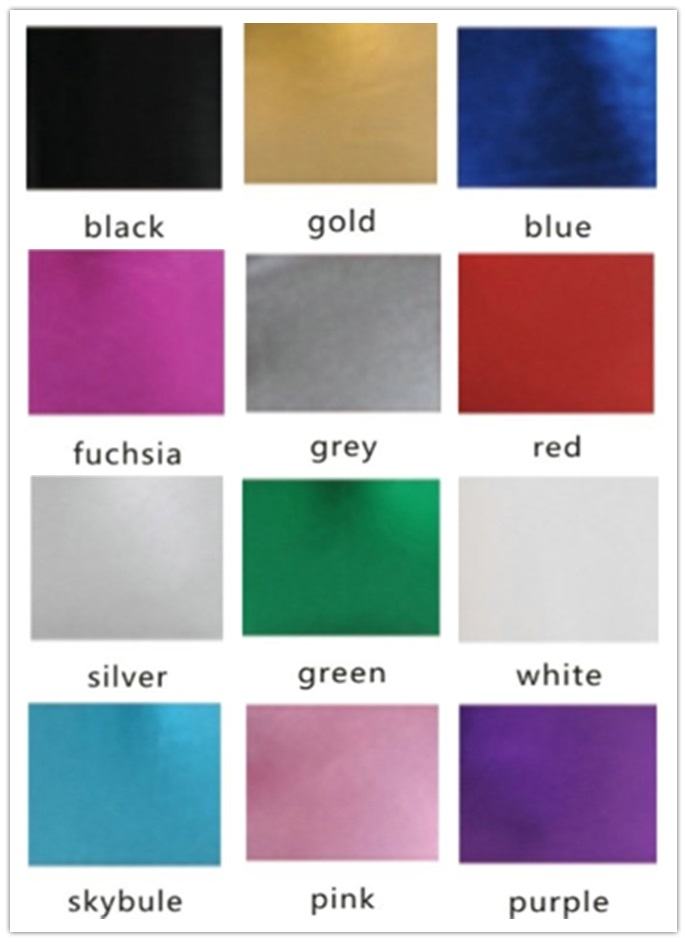 OVIGILY METALLIC COLOR CHART