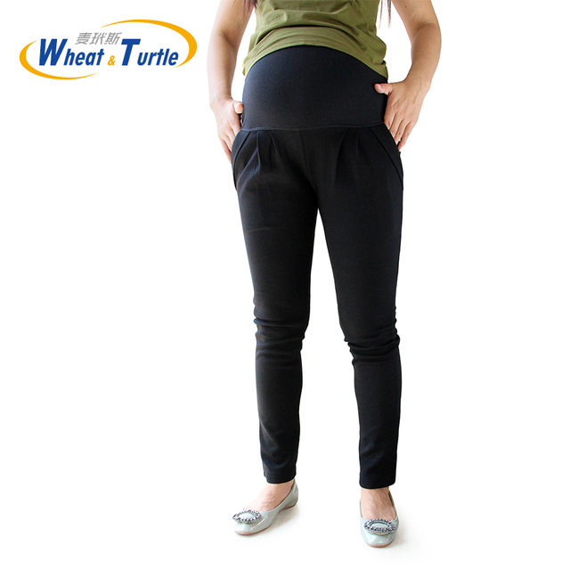 Good Quality Cotton All Match All Season Suitable Casual Black Maternity Leggings Big Size Warm Leggings For Pregnant Women