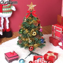 OurWarm Artificial Christmas Tree Decorations Party Supplies Green DIY Christmas Tree 60cm New Year Mini Christmas Tree