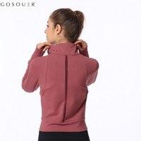 GOSOUER Sport Jacket Women Sport Hoodie Women Gym Hoodies Running veste sport femme chaqueta deporte mujer gym jacket hat