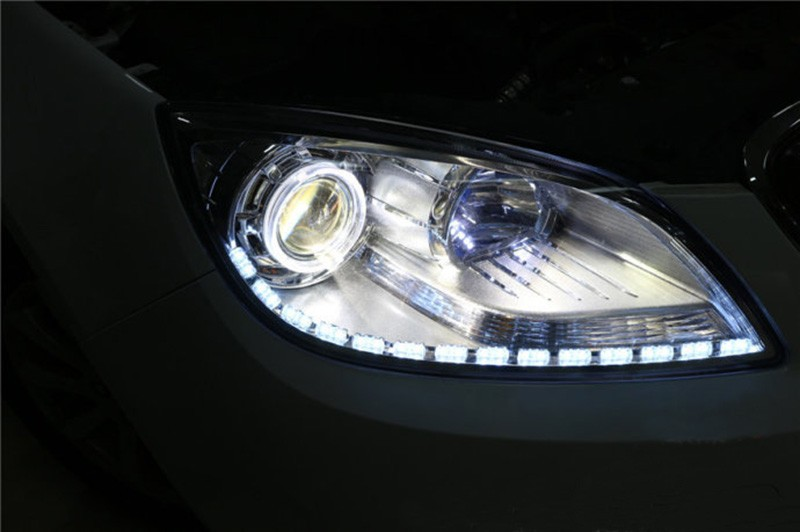 2 pcs warna ganda kristal mata LED day day running light DRL - Lampu mobil - Foto 1