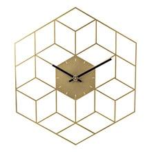 35X40 см креативные настенные часы с железным кубом, таймер, бесшумные настенные часы с батарейным питанием, декоративные настенные часы для дома, золотистые весы