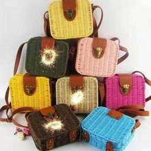 США Женская ротанговая квадратная сумка для девушек пляжные