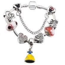 Charm Bracelet with Enamel Beads for Girl