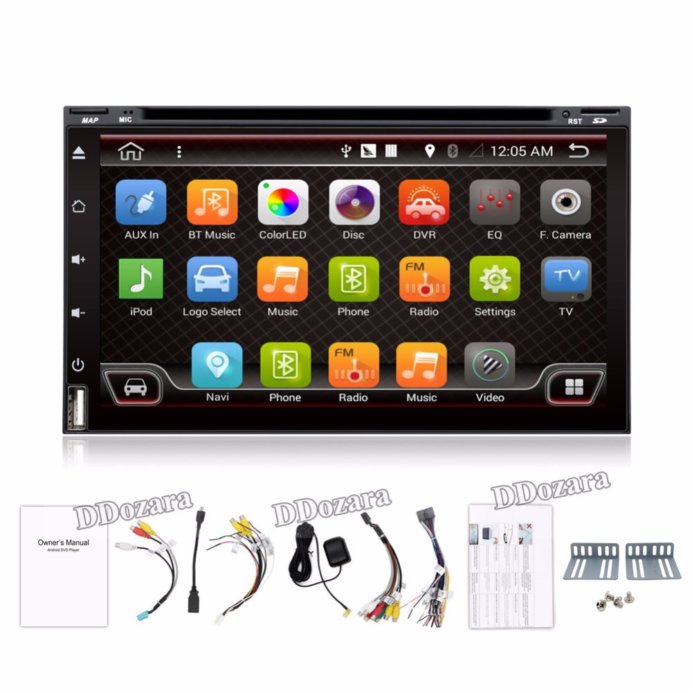 Quad Core Car Electronic autoradio 2din android 6.0 car dvd player stereo GPS Navigation WIFI+Bluetooth+Radio+3G+TV (Option) android 5 1 car radio double din stereo quad core gps navi wifi bluetooth rds sd usb subwoofer obd2 3g 4g apple play mirror link