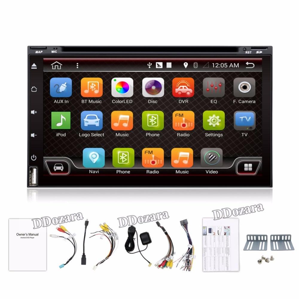 imágenes para Quad Core Electrónica Del Coche autoradio 2din android 6.0 reproductor de dvd estéreo del coche de Navegación GPS WIFI + Bluetooth + Radio + 3G + TV (Opcional)