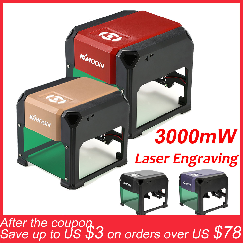KKmoon 3000mW New High Speed Laser Engraving Machine USB DIY Laser Engraver Printer Automatic Handicraft Wood Burning Tools