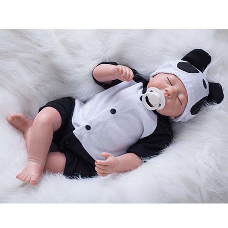 Может сидеть и лежать 20 дюймов Reborn куклы младенца силикона реалистичные новорожденных реалистичные куклы с одеждой для дня рождения подаро...