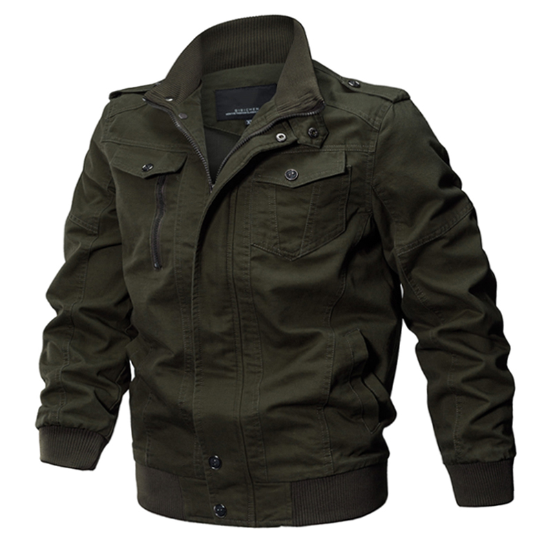 winter casual military jacket