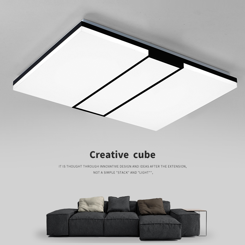 Modern  square LED panel surface mounted ceiling lamp White/Black bathroom lighting AC110-240V luminarias paraModern  square LED panel surface mounted ceiling lamp White/Black bathroom lighting AC110-240V luminarias para
