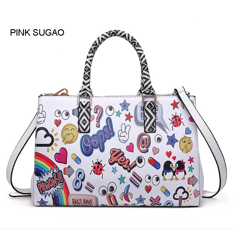 Pink sugao new style handbags women bags designer luxury shoulder handbag purses cartoon cute crossbody bag