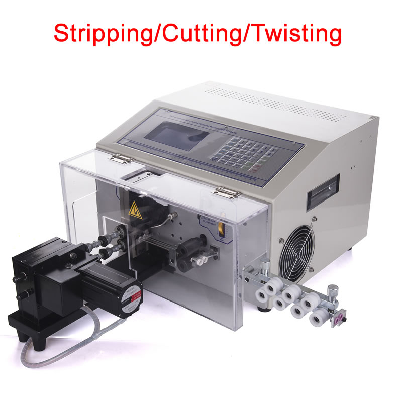 SWT508 NX2 wire 3 in 1 stripping cutting twisting machine digital automatic cable cutter 220V 110V