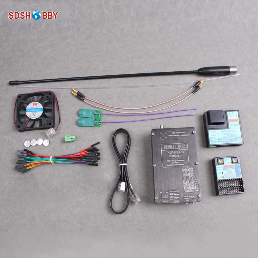 New RMILEC T4047NB20 20Channels 400 470MHz 433MHz UHF Long Range RC System LRS System Receiver