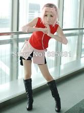 Beautiful Naruto's Haruno Sakura Cosplay Costume Set