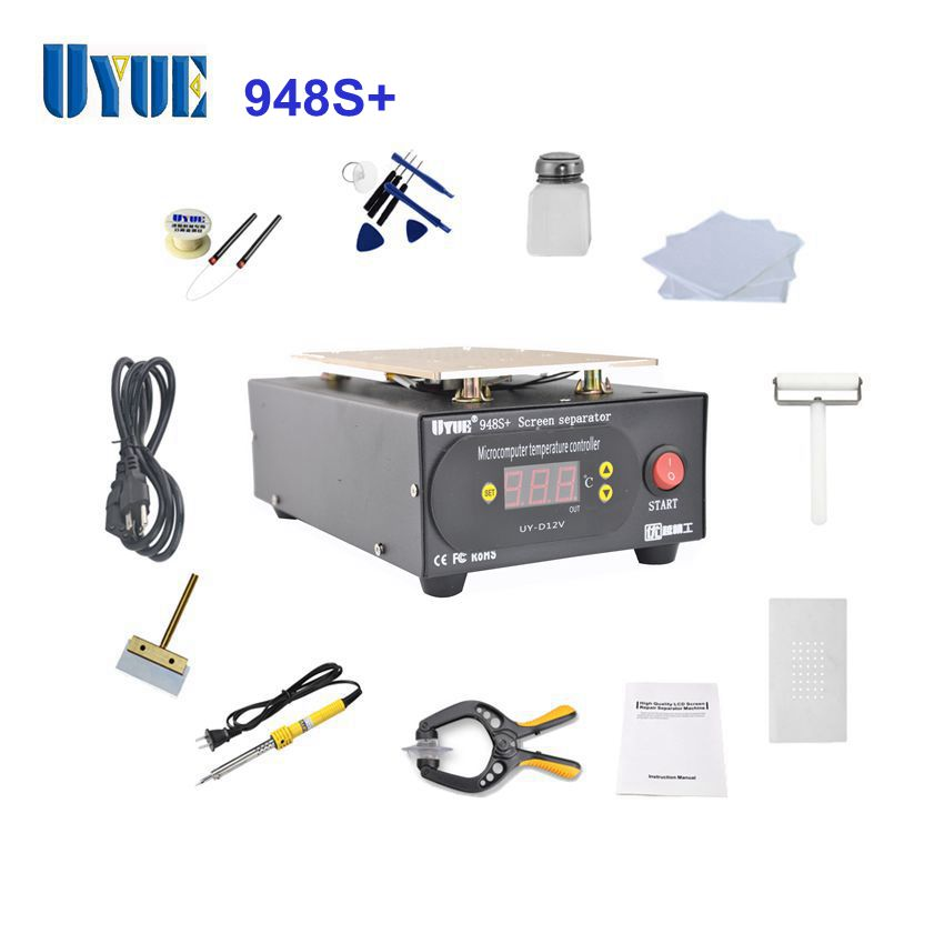 Newest Build-in Pump Vacuum UYUE 948S+ LCD Separator Machine Screen Repair Machine Kit for iPhone for Samsung built in air vacuum pump ko semi automatic lcd separator machine for separating assembly split lcd ts ouch screen glas