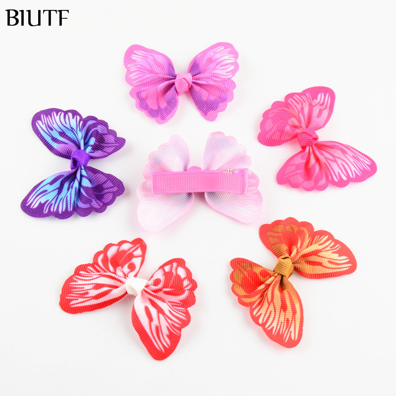 100pcs/lot Hairpin Clip with Butterfly Shape Bowknot Headdress for Girls kids Choose Your Own Color FC105