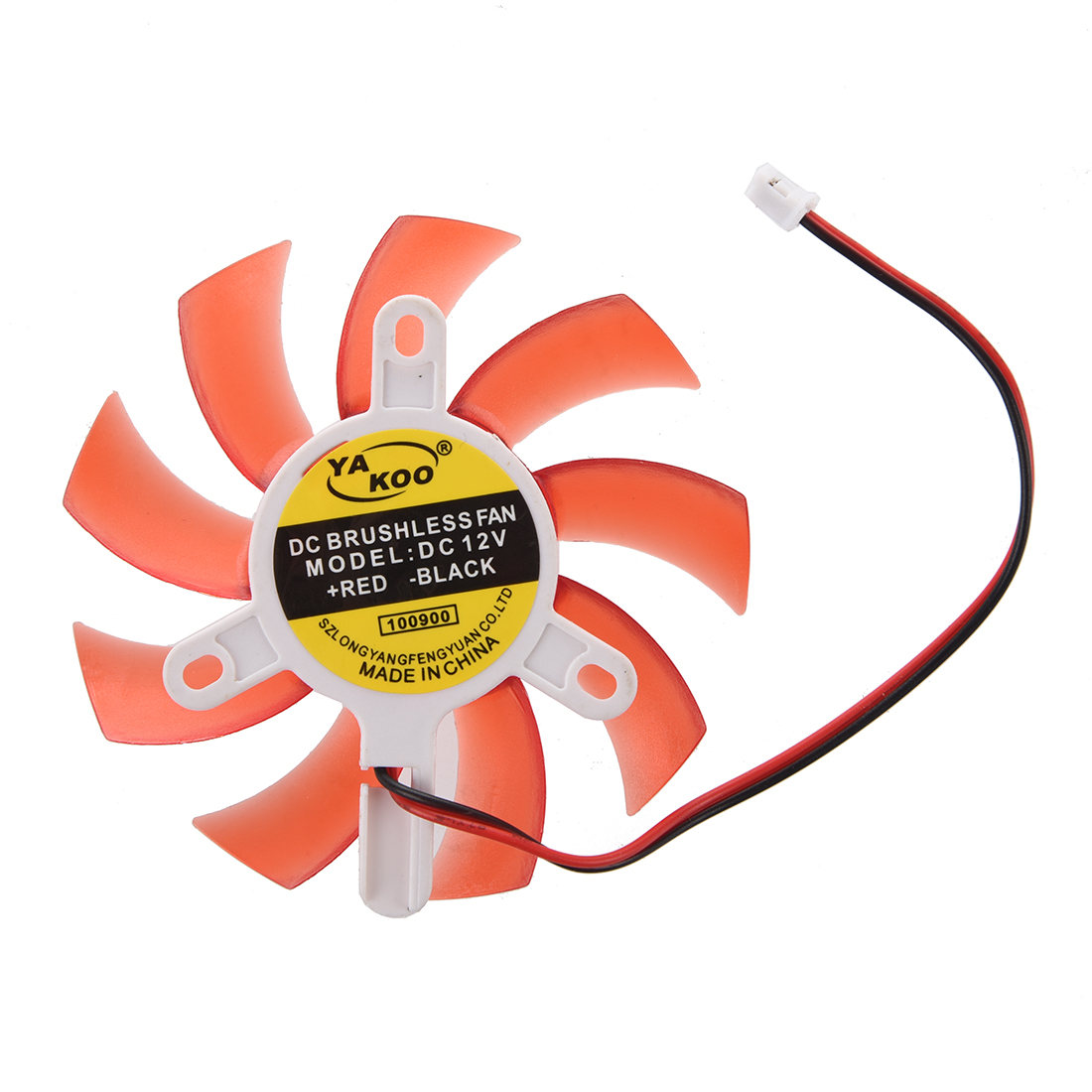 Computer Red Plastic VGA Video Card DC 12V Brushless Cooling Fan maitech dc 12 v 0 1a cooling fan red silver
