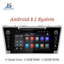 JDASTON Android 8,1 автомобильный мультимедийный плеер для Toyota Camry 2007 2008 2009 2010 2 Дин радио г + 32 gps стерео DVD Wi Fi SD