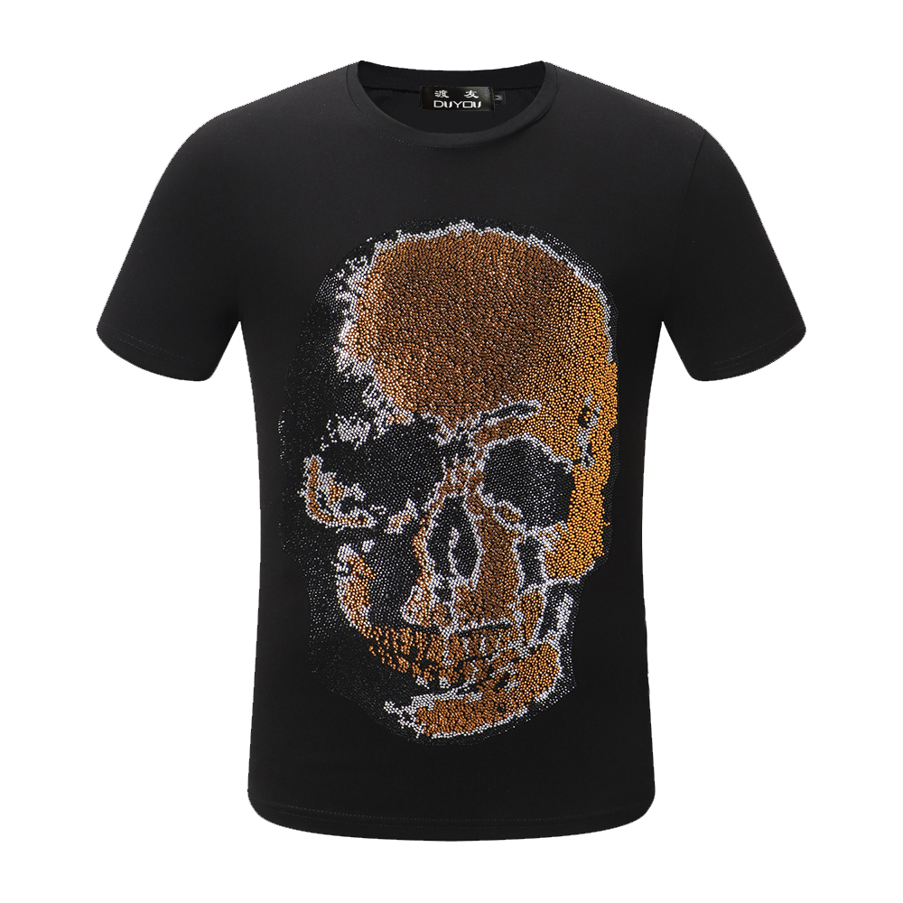 PPFRIEND Fashion 3D print Skull pattern casual men t shirt famous brand young fashion funny t shirts 100% cotton men clothing