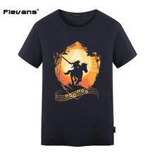 Flevans Cotton O-neck T Shirt for Man The Legend of Zelda Breath of The Wild Print Fashion Mens Summer T-shirt Casual Tops Tees
