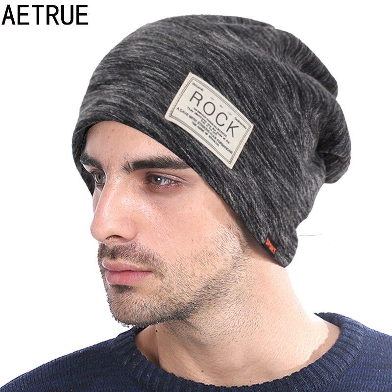 AETRUE Skullies Beanies Hat Women Winter Hats For Men Fashion Caps Male Warm Baggy Bonnet Brand Mask Autumn Beanie Knitted Hat gorros de baño con flores