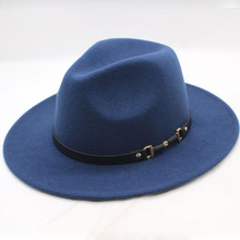 Chapeu Feutre Design Womens Feminino Fedora Hat For Laday Wide Brim Sombreros Jazz Church Cap Panama top hat