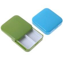 1 шт. Мини Портативный 2 сетки Push открытый стиль коробка для таблеток медицина Pillbox планшет чехол для хранения Контейнер чехол s коробка для хранения