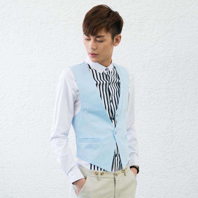 Camisola nova de algodão limitado cetim gola quadrada moda jovem Colete 2014 primavera rua tendência do Colete masculino roupas dos homens