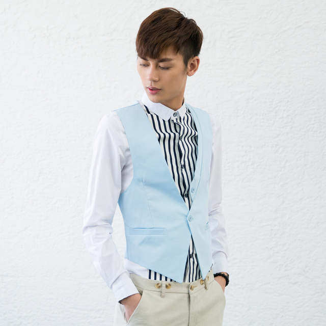 Undershirt New Limited Cotton Satin Square Collar Fashion Youth Colete 2014 Spring Street Trend of The Vest Male Men's Clothing