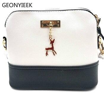 2018 Hot Women's Handbags Leather Fashion Small Shell Bag With Deer Toy Women Shoulder Bag Casual Crossbody Bag