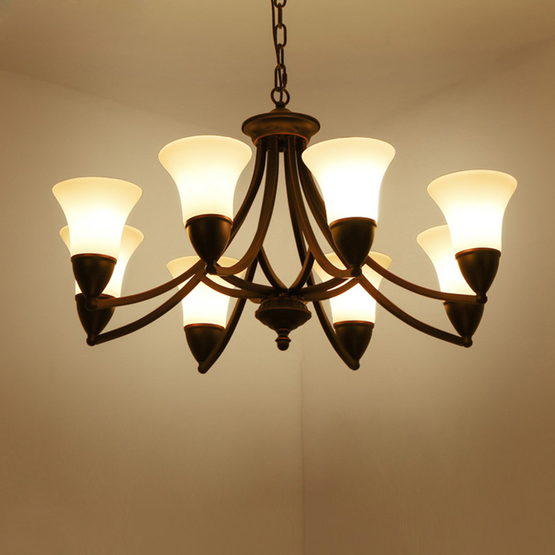 American chandeliers European iron retro lamps simple living room creative bedroom restaurant pastoral lighting jane european pastoral creative lighting restaurant lamp bedroom balcony living room ceiling lighting hanging iron