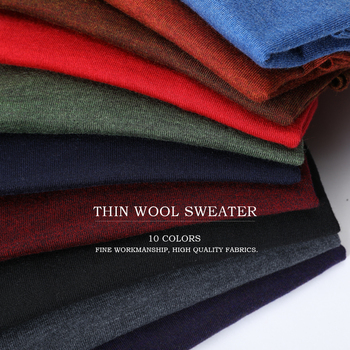 10 Colors Men's Casual Knit Sweater 2019 Autumn Winter New Slim Fit Pullover Wool Cashmere Sweater Men Brand Clothes 1