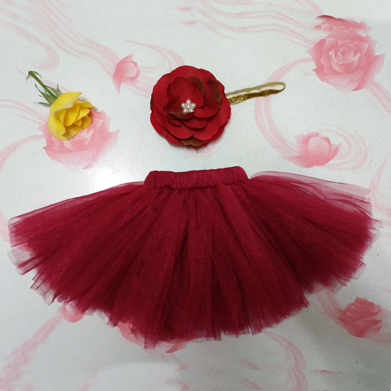 NEW-4-Colors-Newborn-Tutu-Skirt-With-Matching-Flower-Headband-Stunning-Newborn-Photo-Prop-Girl-Tutu-Skirt-3