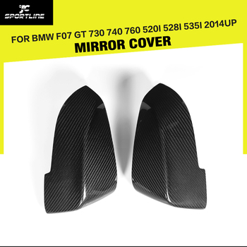 Carbon Fiber Car Side Review Mirror Caps Covers Replacement Style for BMW 7 Series GT 730 740 760 5 Series F07 GT 2014 - 2017