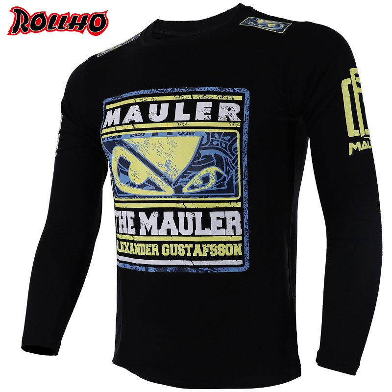 Boxing Jerseys Tiger Muay Thai Mma Rashguard Jiu Jitsu Sauna Suit Rashguard Mma Long Sleeve T Shirt King Boxing Mma Shirts