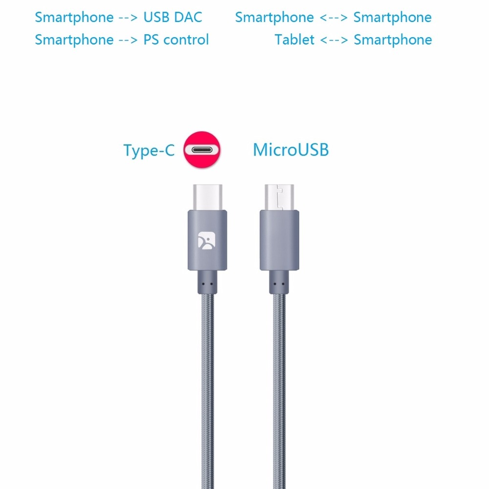 type c to microusb otg cable for usb dac nexus 6p 5x zuk xiaomi